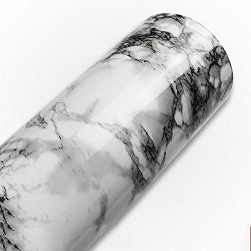 Marmor-kontakt papier - granit grau Weiße roll küche arbeitsplatte kastenmöbel ist renovierten dicken wasserdichten pvc-practicalws-A 60x600cm(24x236inch) (Backsplash Küche Marmor)
