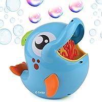 Gadgy Maquina Pompas de Jabon Delfin Aire Libre | Burbujas Bubble Blower Maker | 236 ML