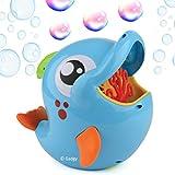 Gadgy Maquina Pompas de Jabon Delfin Aire Libre | Burbujas Bubble Blower Maker | 236 ML. Liquido Jabon Incluido | Azul Pescado