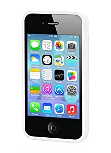 Moxie - CRYSTALIP4WHI - Coque arrière Flex inrayable pour iPhone 4/4S - Blanc