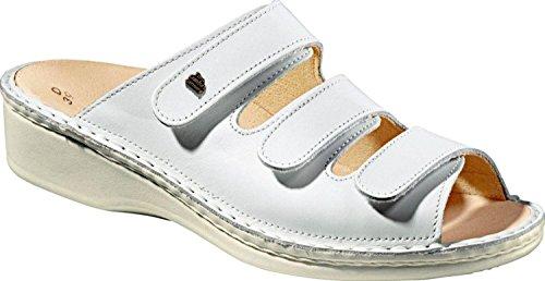 Finn Comfort Pisa, da donna, con zeppa, con motivo a sandali Bianco (bianco)