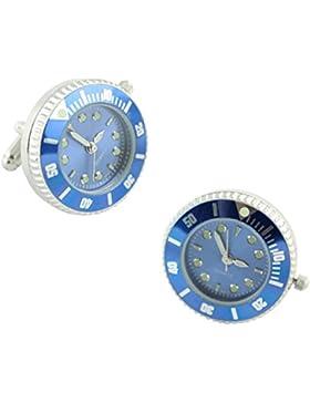 masgemelos Manschettenknöpfe Uhr Rolex blau Cufflinks