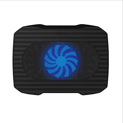 NINGNING Laptop-Kühler,Laptop Kühlpads Geeignet für den Einsatz unter 15.6,Notebook Cooler Ständer Kühlmatte,2 USB-Ports,1 Lüfter mit LEDs