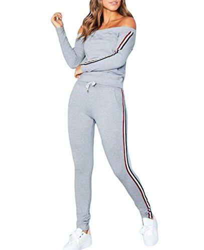 FASTYLING Damen Trainingsanzug Jumpsuit Jogger Jogging Anzug Overall Ladies 2 Piece Set