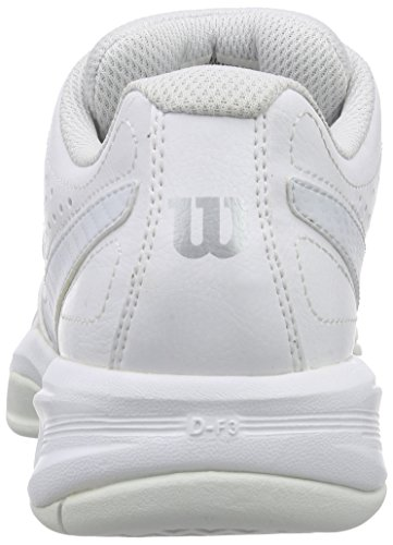 Wilson RUSH OPEN 2.0 W, Chaussures de Tennis femme Blanc (white/ice gray wil/steel grey)
