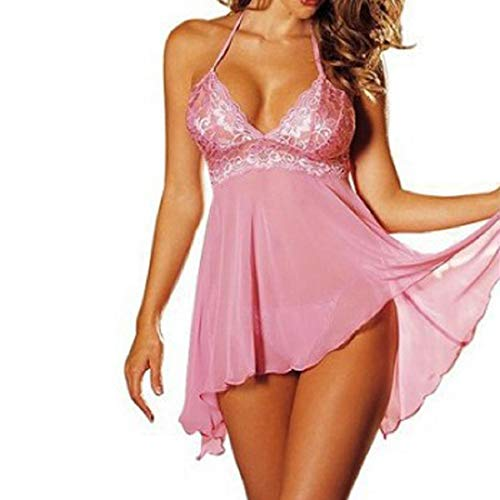 VECDY Frauen Unterwäsche 2 Stück Set Super Sexy Damen Kleiden Dessous Spitzenkleid Unterwäsche Versuchung Plus Größe