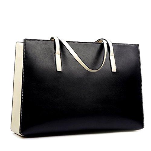 WU Zhi Lady Fashion Große Kapazitäts-Multi-Funktions-Einkaufstasche Umhängetasche Tasche Handtasche Black