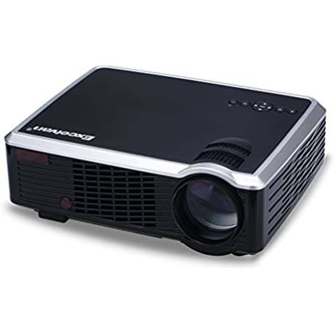 Excelvan 33+ LED Videoproiettore Portabile (2600 Lumens 850x800 Home Cinema Theater con 5,0 pollici LCD TFT Display, supporto 3D, 1080P, HDMI, VGA, USB, DVD, Xbox, PS4, PC, Laptop, Smartphone) Nero