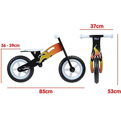 boppi® Wooden Balance Bike – Flame