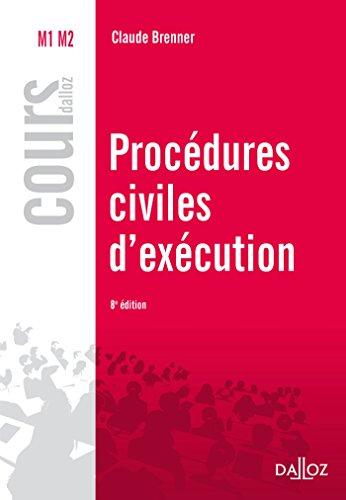 Procédures civiles d'exécution - 8e éd.