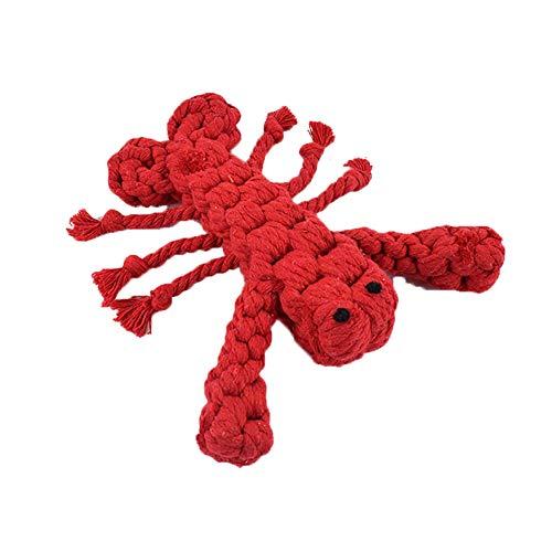 Haodou Interaktive Hund Spielzeug Tiere Welpen Spielzeug Sicher Baumwolle Seil für Welpen Zähne Reinigung Pet Ausbildung Liefert (Hummer) -
