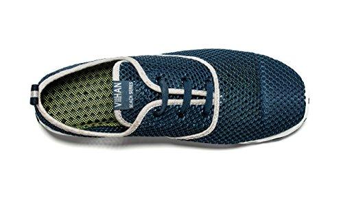 Viihahn Homme Mesh Respirant Lacets Respirant À Séchage Rapide Eau Marine-militaire Chaussures