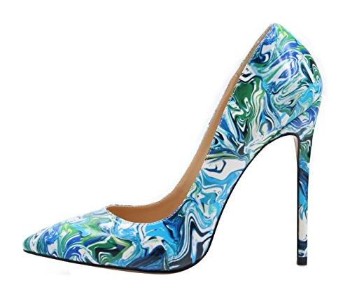 uBeauty - Escarpins Femmes - Chaussures Stilettos - Talon Aiguille - Grande Taille - Chaussures Femme Talons Multicolore A