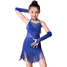 K-youth Ninas Borla Latino Vestido De Baile Vestido Danza Latina Niña Traje Baile  Tango 93a5b8c2753