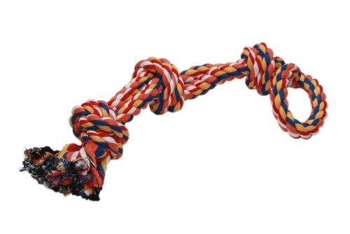 Nobby 72494 Spielseil mit 3 Knoten für Hunde