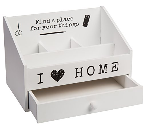 Bada Bing Buro Schreibtisch Organizer I Love My Home Weiss Holz