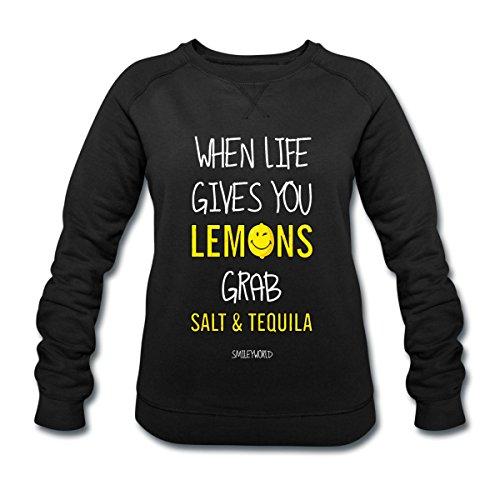 Spreadshirt Smiley World Tequila Life Gives You Lemons Sweat-shirt bio Stanley & Stella Femme Noir