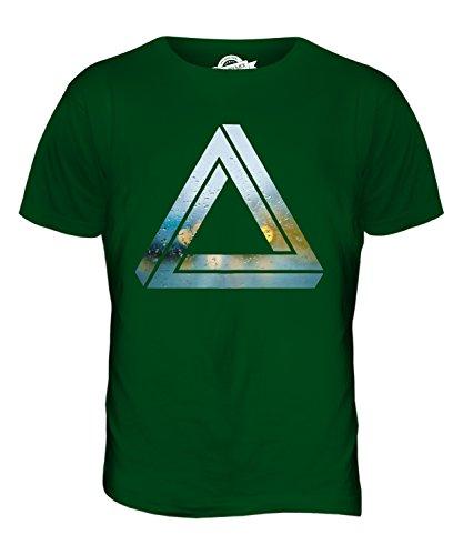 CandyMix Penrose-Dreieck Herren T Shirt Flaschengrün