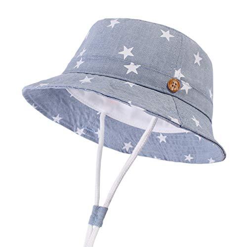 DRESHOW Unisex Baby Kleinkinder Sonnenhut Kappe Mütze Fischerhut Strandhut Kinder Baby Stern Sommerhut UV Schutz