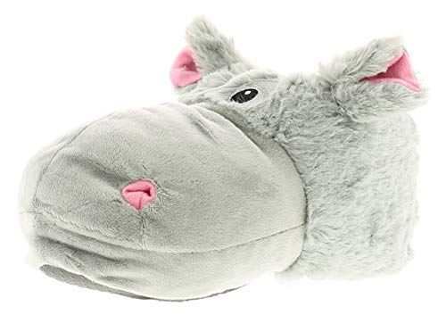 11e7be1e3f9 Wynsors Hippo Womens Ladies Novelty Slippers Grey - Grey - UK Size 5