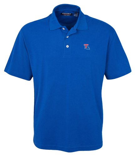 Oxford NCAA Herren Poloshirt Louisiana Tech Bulldogs 3-Knöpfe mit gesäumten Ärmeln (Ultramarine, XXL) Louisiana Tech Bulldogs Golf