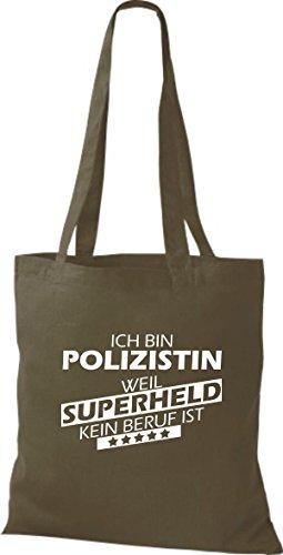 È Supereroe Non Una Doliva Sono Perché Tote Shirtstown Bag Professione Il Un Poliziotto qxn6zw1a