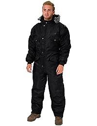 Negro Snowsuit ropa de invierno nieve traje de esquí mono traje de aislamiento