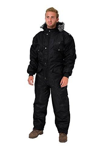 Overall Die Für Jagd (Schwarzer Schneeanzug Winter Bekleidung Schnee Ski Anzug Overall Undurchlässiger Anzug (L))