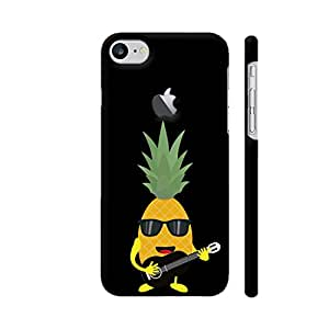 Colorpur Rock N Roll Pineapple Printed Back Case Cover for iPhone 7 Logo Cut