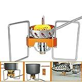 OOBY 2900W Estufa De Gas para Acampar, Estufa Plegable Dividida Estufa para Cocinar A Prueba De Viento Al Aire Libre Estufa De Mochilero (Sin Cilindro De Gas).