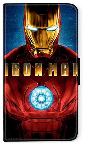 Flip Case Avengers Helden Comic Marvel kompatibel für Huawei P20 LITE Reaktor Iron Man Handy Hülle Leder Tasche Klapphülle Brieftasche Etui rund um Schutz Wallet M5 -