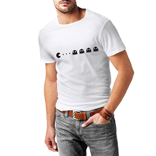 N4140I Like Pac lustig Herren T-Shirt Fruit of the looml (S, Weiß Schwarz) (T-shirt Benutzerdefinierte Farbe-schwarz)