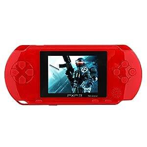 JouerNow Rosso PXP 3 Console Slim portatile 16 bit Consolle Retro Video 150+ giochi Scherza i regali