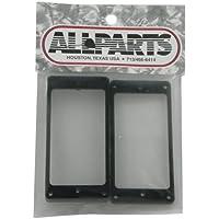 Allparts PC-0743-023 Humbucker Rahmen Set für flache Decken schwarz