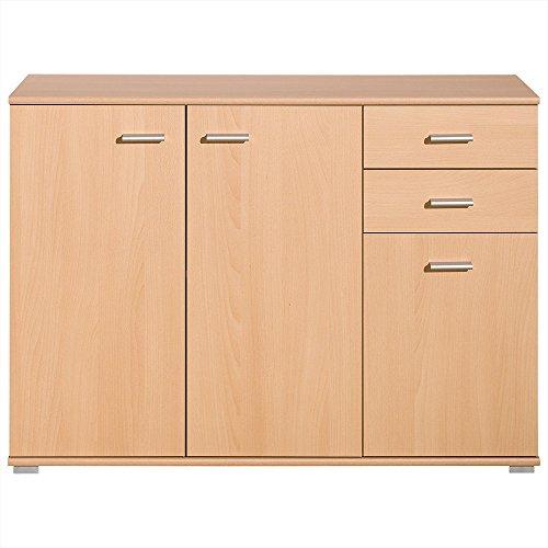 preisvergleich sideboard mit 3 t ren 2 schubladen buche. Black Bedroom Furniture Sets. Home Design Ideas