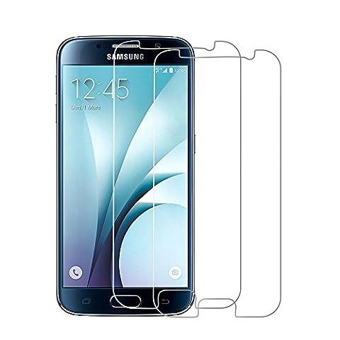 Verre Trempé Samsung galaxy S6, ArerkekePack de 2 films de protection d