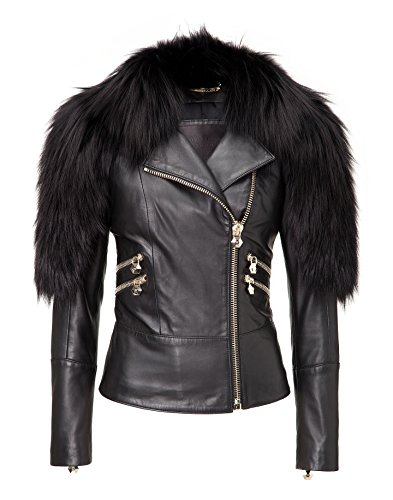"Philipp Plein Lederjacke ""ONE MOMENT"""