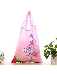 Designeez Nylon Foldable Bags Strawberry Shape Reusable Folding Eco Storage Bag Supermarket Snacks Vegetable Grocery...