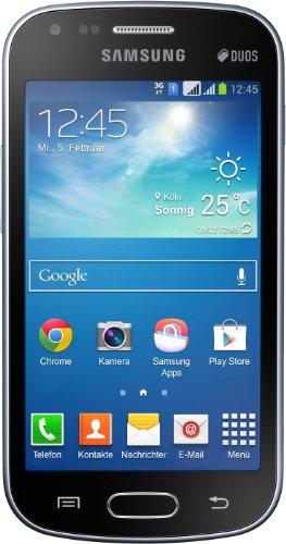 Samsung S7582 Galaxy S DuoS 2 Smartphone (10,16 cm (4 Zoll) TFT-Touchscreen, 1,2 GHz Dual-Core-Prozessor, 5 Megapixel Kamera, Android 4.2) schwarz (S Duos Galaxy Samsung S7582 2)