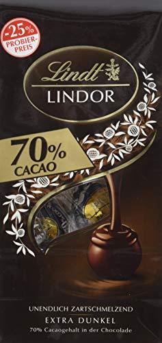 Lindt Lindor Promotionbeutel 70%, Extra dunkel, 11 Kugeln, 8er Pack (8 x 136 g)