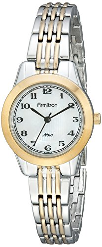 Armitron Women's 75/5072MPTT Easy-to-Read Dial Two-Tone Bracelet Watch