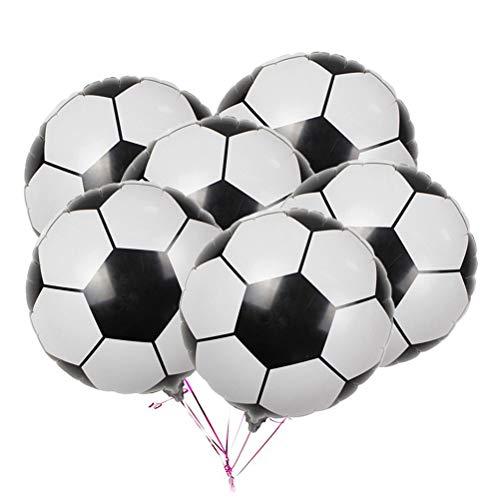 Toyvian Fußball Folien Luftballons Dekor für World Cup Party Sammeln Fußball Thema Party Dekoration 20 Stücke (Dekor Fußball-party-thema)