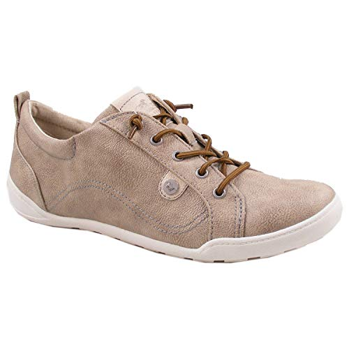 MUSTANG 1314-302 Damen Sneaker Schnürschuhe Slipper, Schuhgröße:40 EU, Farbe:Beige