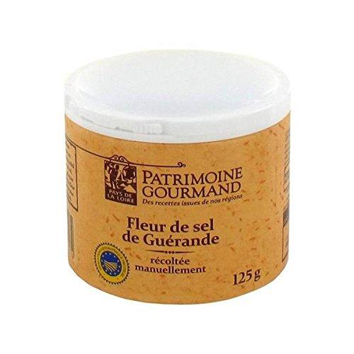 Heritage Gourmet Blume Guérande 125g Salz - ( Einzelpreis ) - Patrimoine gourmand fleur de sel de guérande 125g (Fleurs Cracker)