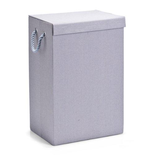 Zeller 14103 - cesta per biancheria pieghevole, in cotone, 40 x 30 x 60 cm, colore: grigio