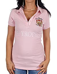 Ed Hardy Damen St. Tropez Poloshirt Rosa