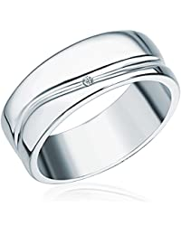 Secret Diamonds Ring 925 Sterlingsilber 1 Diamant 0,01 weiß