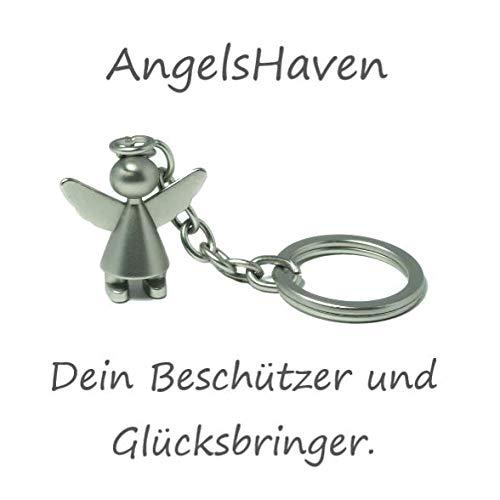 AngelsHaven - Llavero de ángel de la Guarda para Coche, para niños, Amuleto de la Suerte, Regalo de ángel para Mujer, Hombre, niña, niño y Toda la Familia