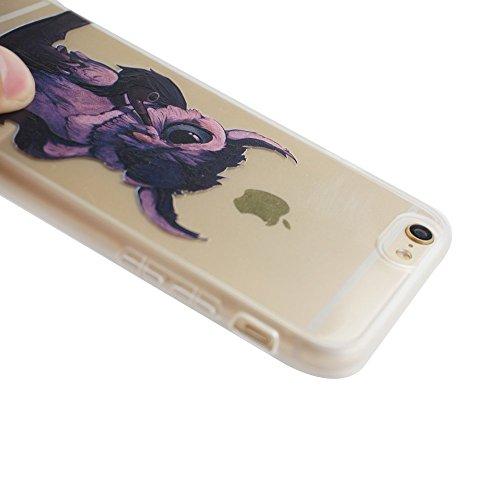Voguecase® Pour Apple iPhone 6/6S 4.7, TPU Silicone Shell Housse Coque Étui Case Cover (Cœurs/éléphant)+ Gratuit stylet l'écran aléatoire universelle tuyau Owl 01