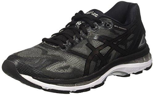 Asics Gel-Nimbus 19, Chaussures de Course pour Entraînement sur Route Homme, Indigoblue/Safetyyellow/Electricblue Noir (Black/onyx/silver)